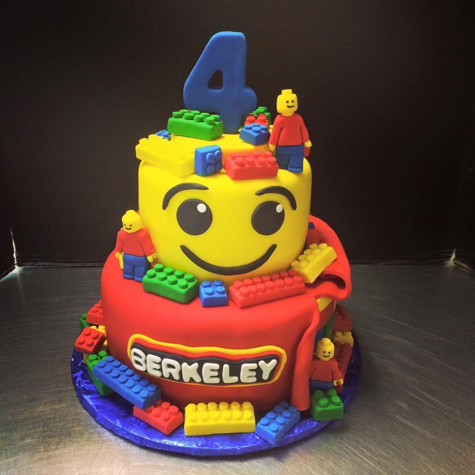 Pleasing Lego Birthday Cake Lego Tiered Cake Kids Birthday Cake Lego Funny Birthday Cards Online Fluifree Goldxyz