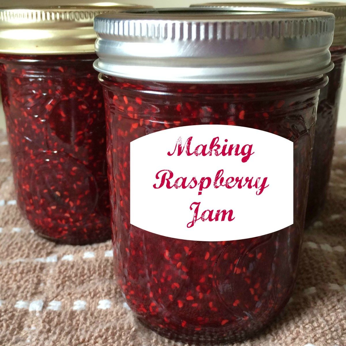 Making Raspberry Jam Raspberry jam, Canning jam recipes