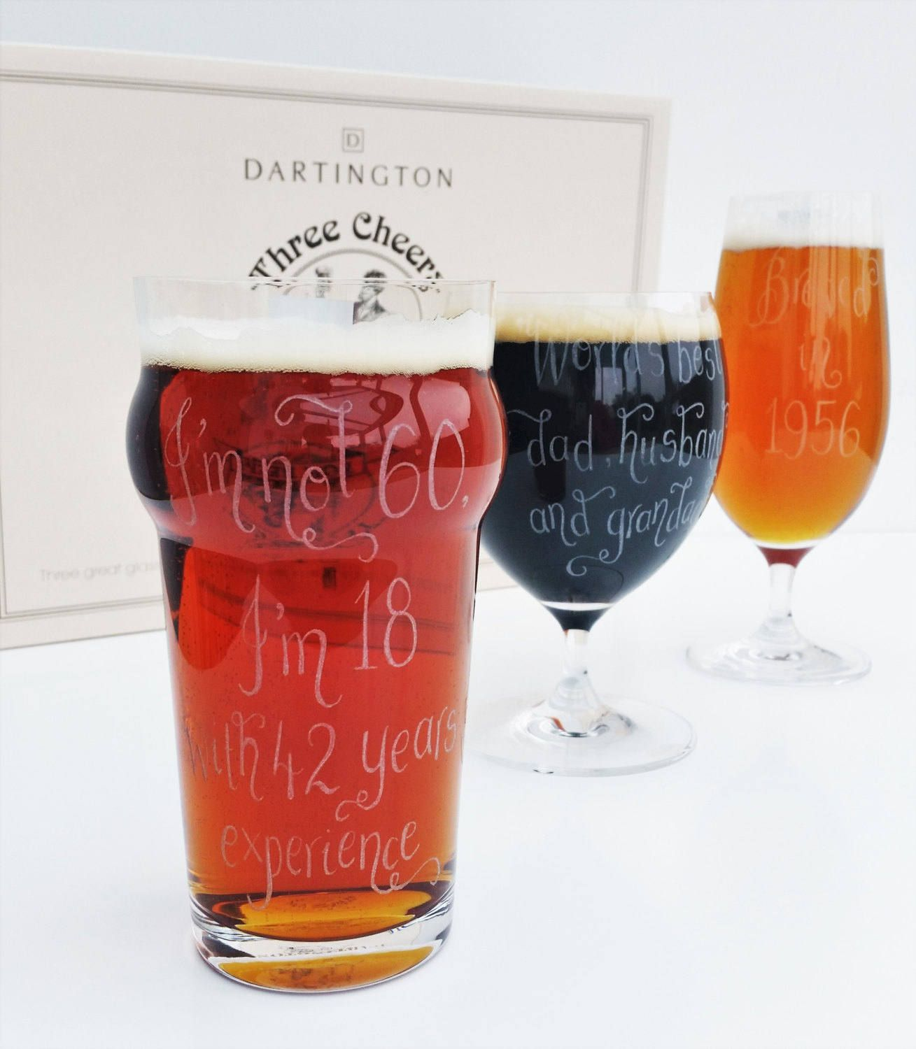 Personalised Beer Glass Set Gift Best Man Custom Fathers Day Present Gift For Husband Dad Gift Real Ale Stout Lager Beer Beer Gift Sets Gifts For Beer Lovers Beer Glass Set