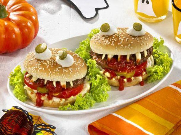 Vampi Burger Fur Halloween Rezept Halloween Essen Rezepte