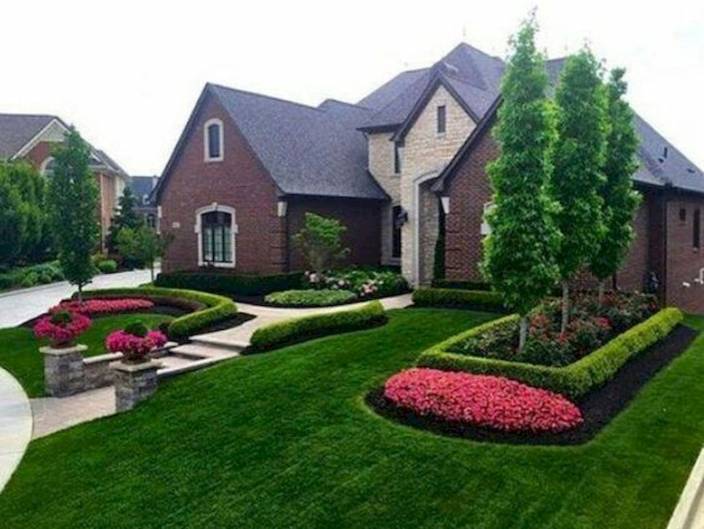 90 Simple And Beautiful Front Yard Landscaping Ideas On A Budget 79 Large Backyard Landscaping Front Yard Landscaping Simple Yard Landscaping Simple