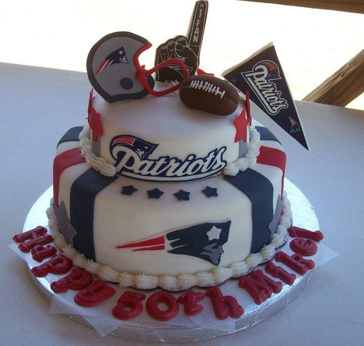 Phenomenal New England Patriots Birthday Cake Patriots Birthday Cakes Two Funny Birthday Cards Online Elaedamsfinfo