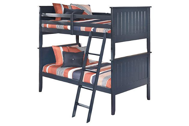 Blue Leo 3 Piece Twin Over Twin Bunk Bed By Ashley Homestore Twin Bunk Beds Bunk Beds Kids