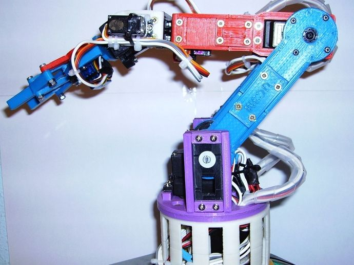 Robotic arm with 6 DOF by ancastrog - Thingiverse   3D
