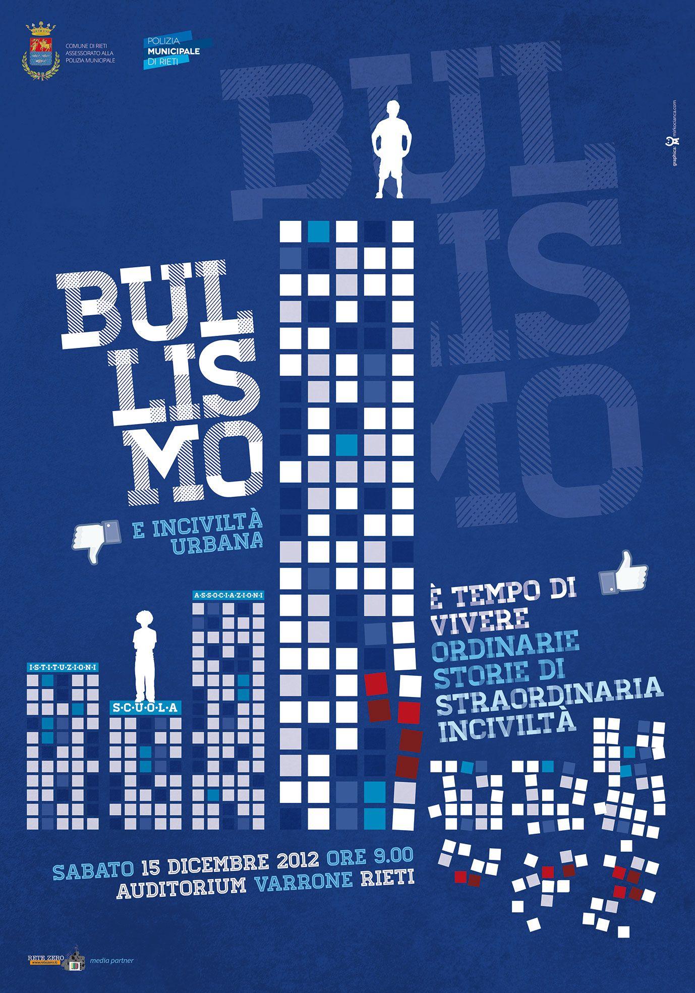 Campagna di sensibilizzazione contro il Bullismo e Inciviltà Urbana  Rieti   Mirko Cianca   Grafica