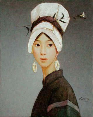 Retrato de la pintora china Xue Mo, wwwanatrigo.es