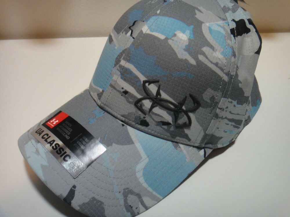 5056f309c12 Under Armour Mens Coolswitch UPF 30 Fish Hooks Snow Camo Classic Fit Hat  Size SM  Underarmour  BaseballCap