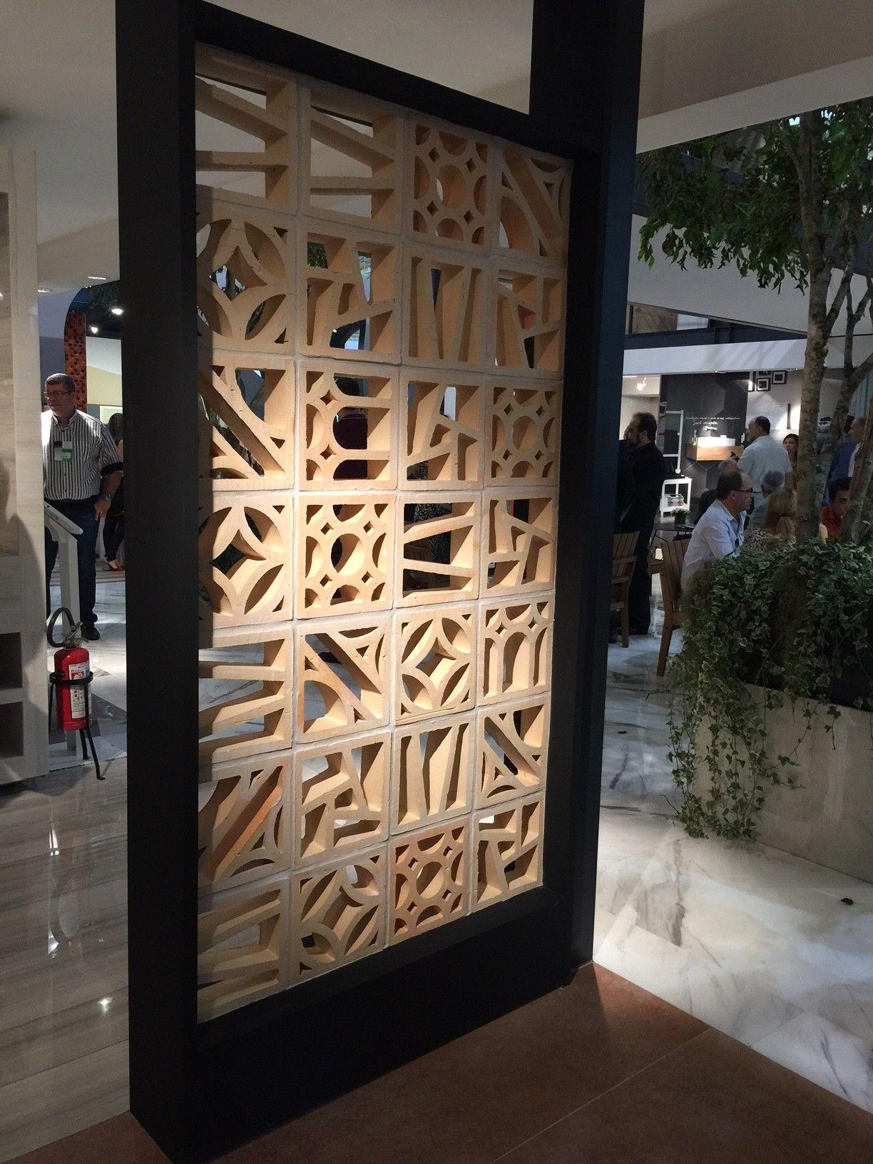 A Portobello lançou a linha Studio Craft, com cobogós de crâmica natural