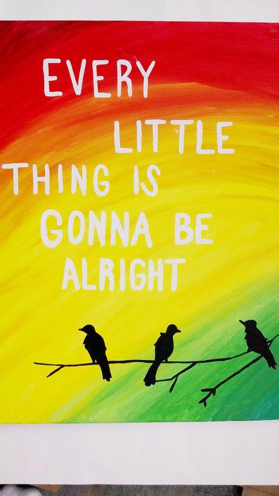 Three little birds Bob Marley wall art Canvas by EnglishBliss ...