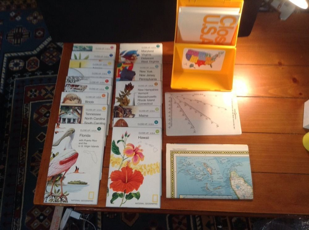 Washington Dc Popout Map%0A National Geographic Society  Closeup USA map Set  complete