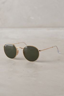 e4ef07631d Beyond obsessed with these Ray-Ban Round Sunglasses Gold One Size Eyewear   anthrofave