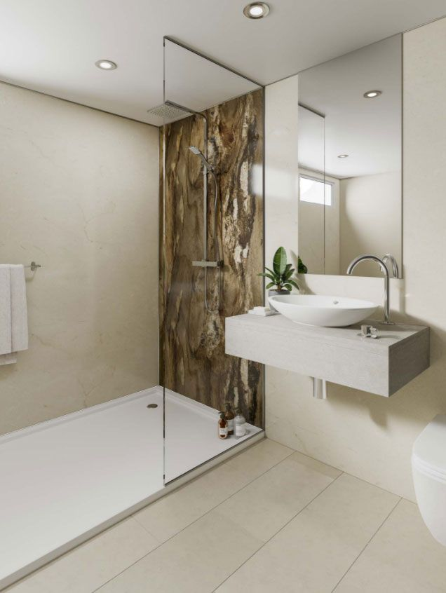Use Waterproof Wall Panels Designed By Linda Barker To Create A Stunning Grout Free Feature In Your Shower