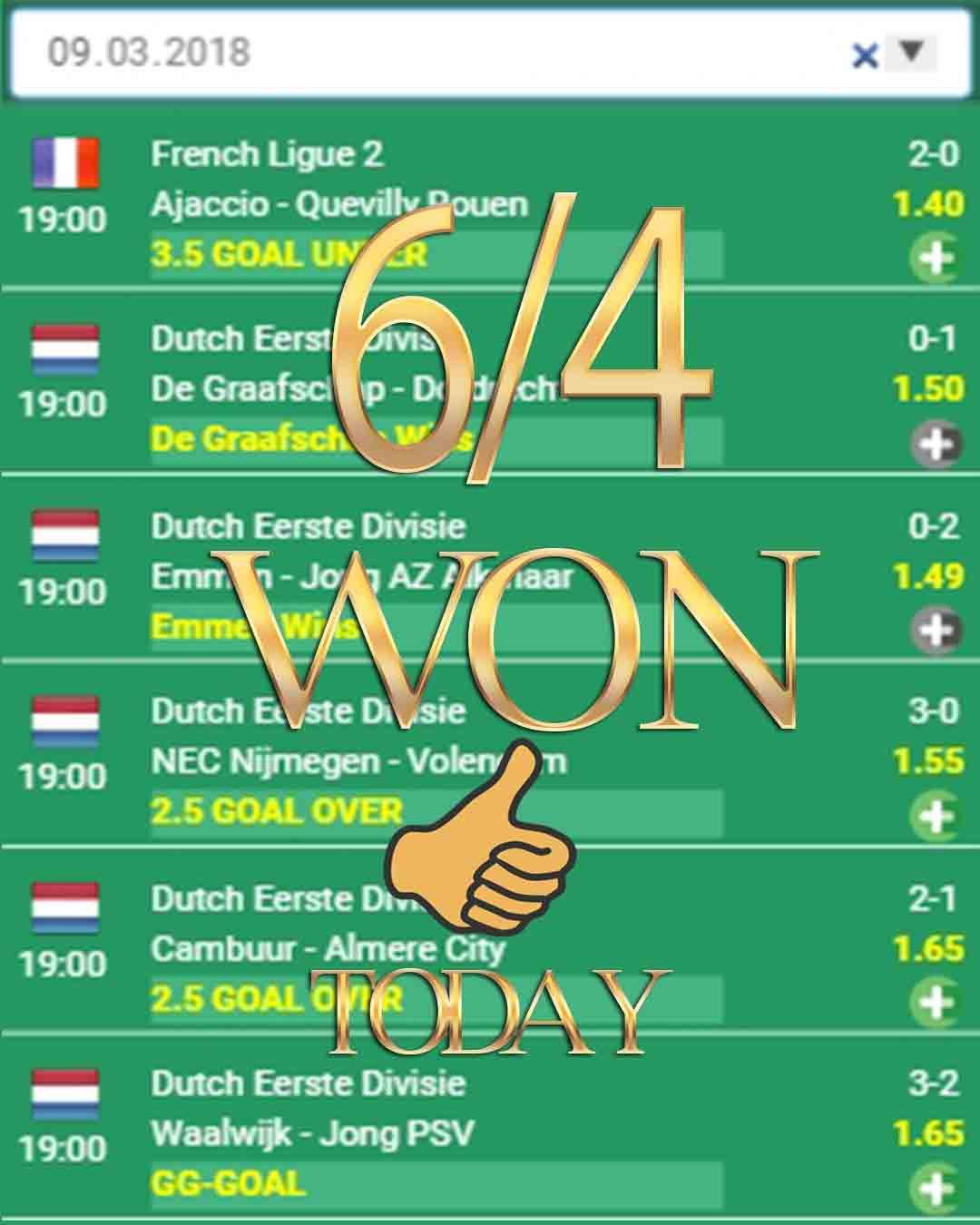 6/4 WON betting expert, betting sports, betting advice