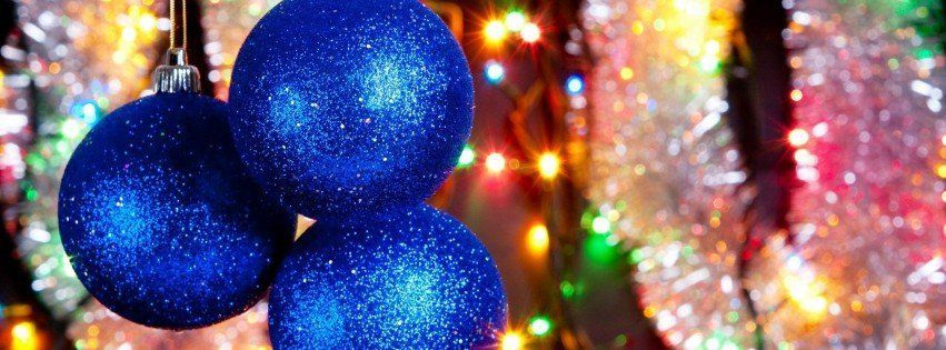 Christmas Ornament Facebook Cover | Blue Christmas Ornaments Facebook Covers - Facebook Covers, Facebook ...