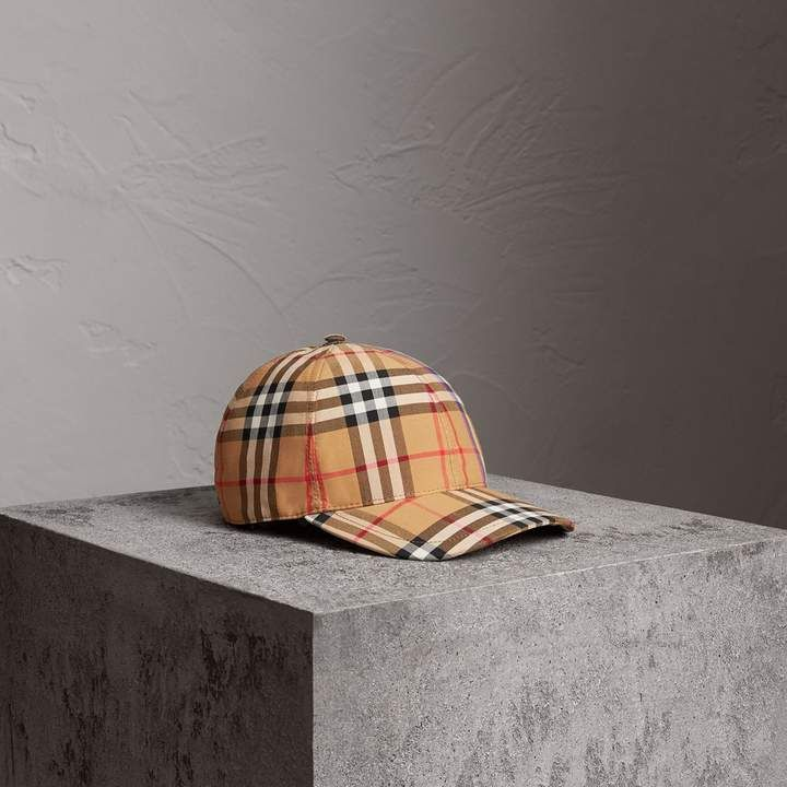 0d192dcb397 Rainbow Vintage Check Baseball Cap in Antique Yellow rainbow in 2018 ...
