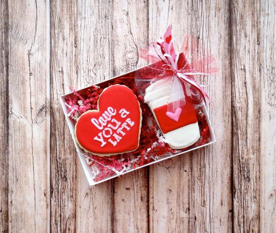 Valentine's Day Cookies Latte Cup Love You A By