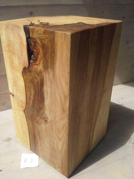 Loungemobel Massiver Holzquader Holzblock Hocker Tisch Stele