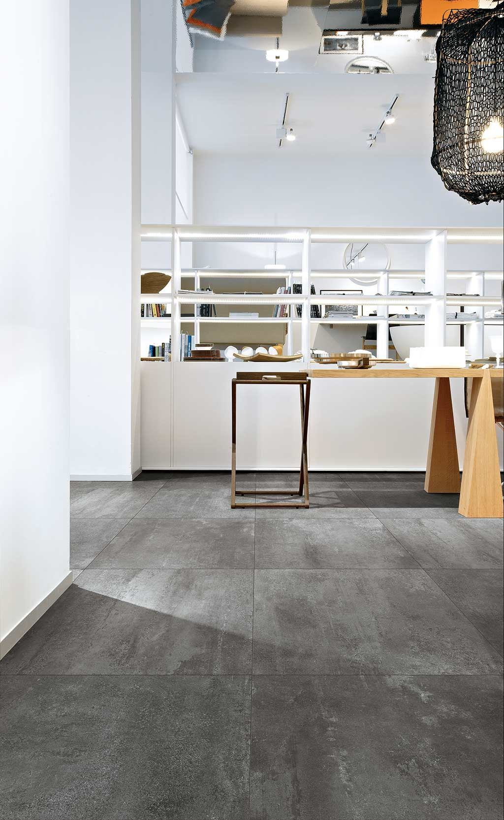 Rawtech Raw Concrete Look Tiles Floor Gres Florim Ceramiche Concrete Look Tile Tile Floor Flooring