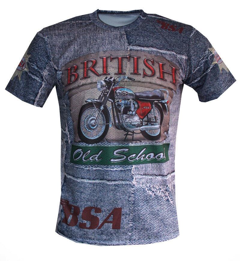 Bsa Cafe Racer T Shirt Camiseta Maglietta Gift Bike Biker Motorcycle Moto Retro Ebay Biker T Shirts Cars Clothes Shirts