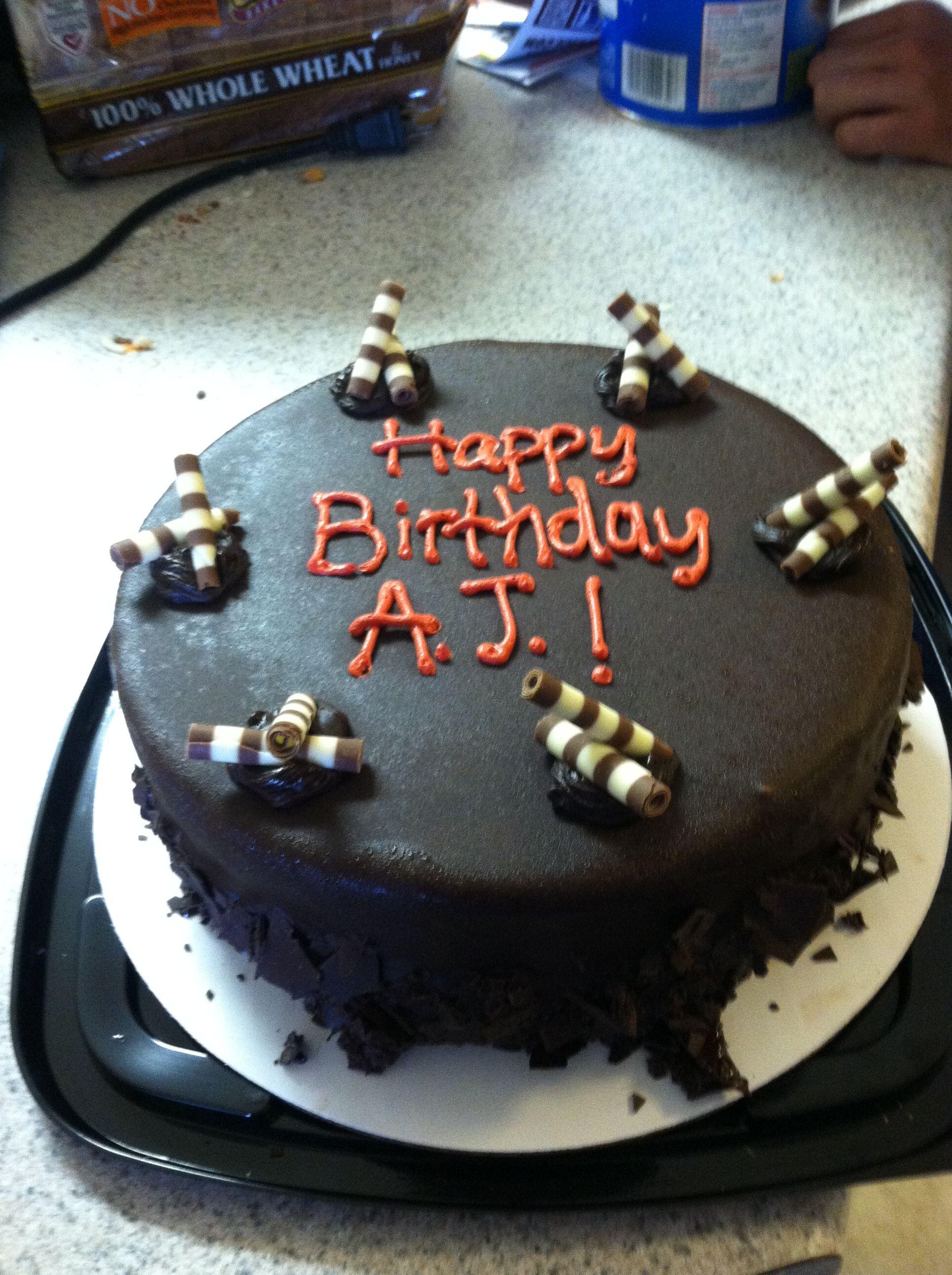 My Cold Stone birthday cake