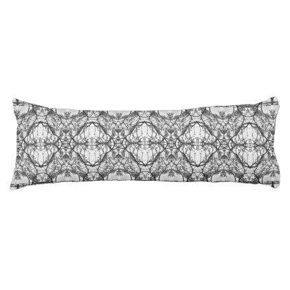 Body Pillow. Lace Pattern. Black \u0026 White Body Pillow - cyo diy customize unique