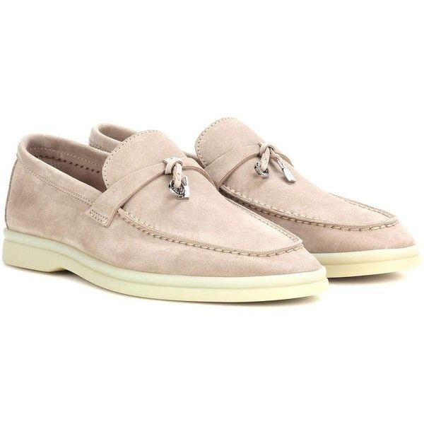 ccec1bff839 Loro Piana Summer Charms Walk Suede Loafers (4