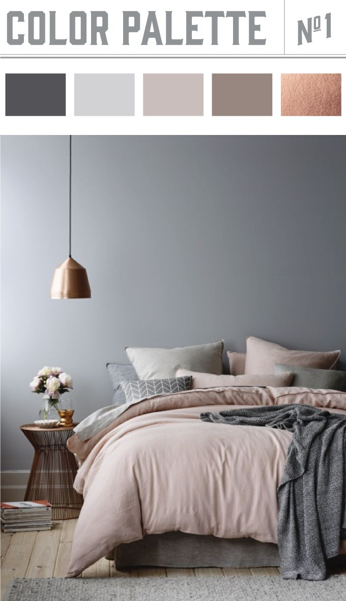 Tagesdecke Grau Rosa Farbpalette Haus Bedroom Colour Palette Home Decor Und