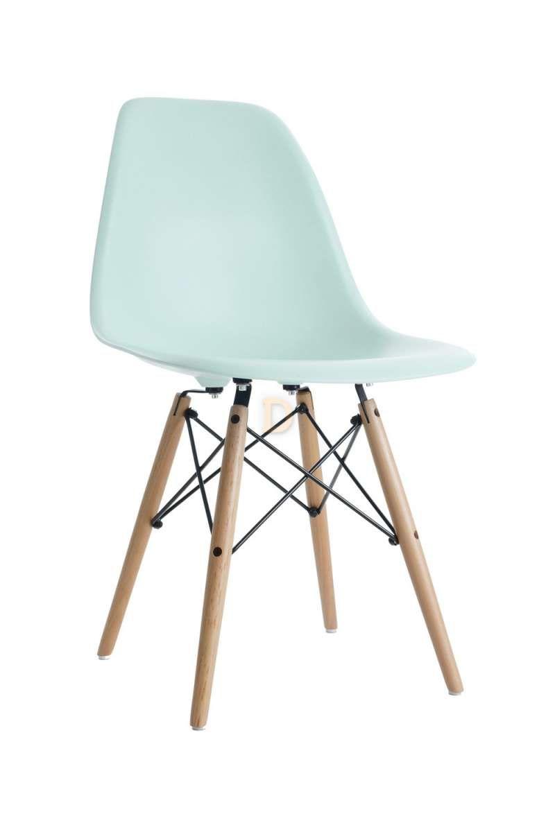 Charles Eames Style DSW Eiffel Stuhl Plastik Mintgrün 79