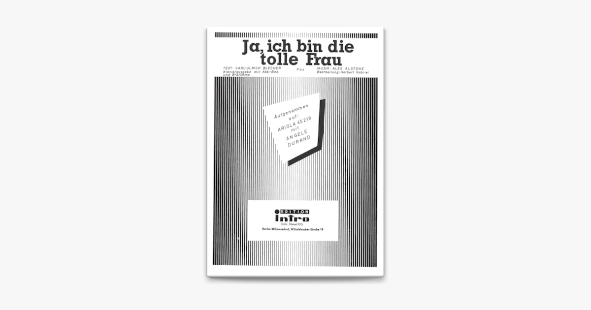 Ja Ich Bin Die Tolle Frau Ad Bin Die Tolle Download Ad In 2020 Convenience Store Products