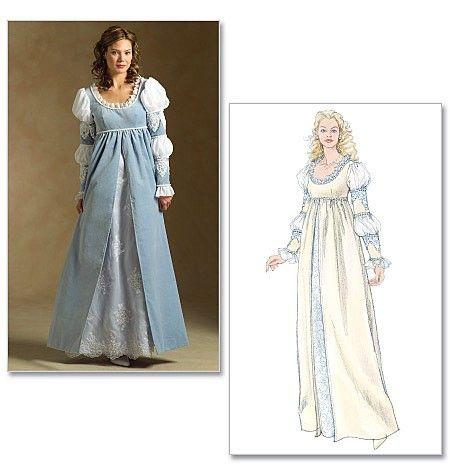 19++ Renaissance dress patterns info