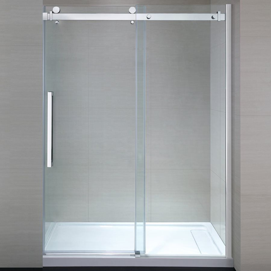 JACUZZI Bel 27-in to 58.2-in W x 78.75-in H Frameless Sliding Shower ...