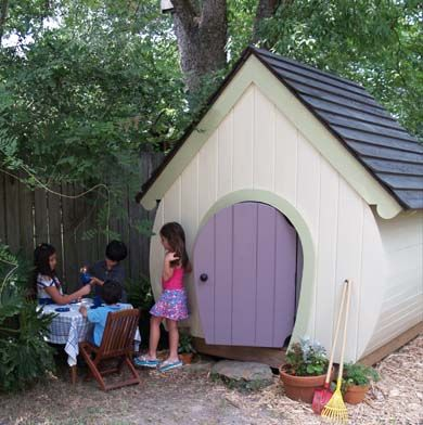 Whimsical playhouse by a place imagined playhouse plans for Whimsical playhouse blueprints