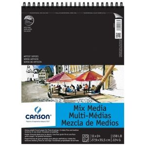 Canson Xl Series Mix Media Pad Canson Artist Series 11 X 14 Mixed Media Pad Top Wire Wire