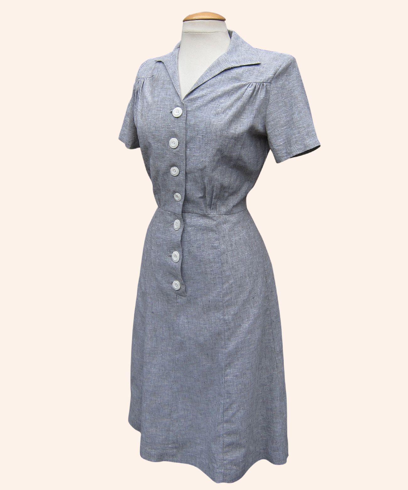 Tea Day Dress in Utility Grey