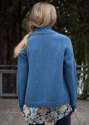 a2e37d72aa692 Top-Down Cardigan Knitting Pattern - No-Sew Sweater Pattern - Chic Knits  Edin - Downloadable Knitting Patterns - Chic Knits Knitting Patterns  designed by ...