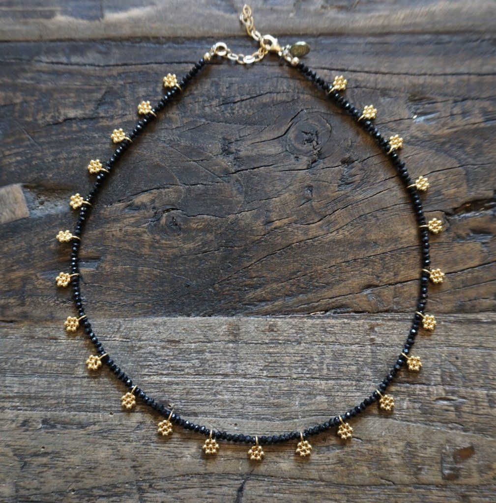 Daisy choker black spinel black spinel choker and india jewelry