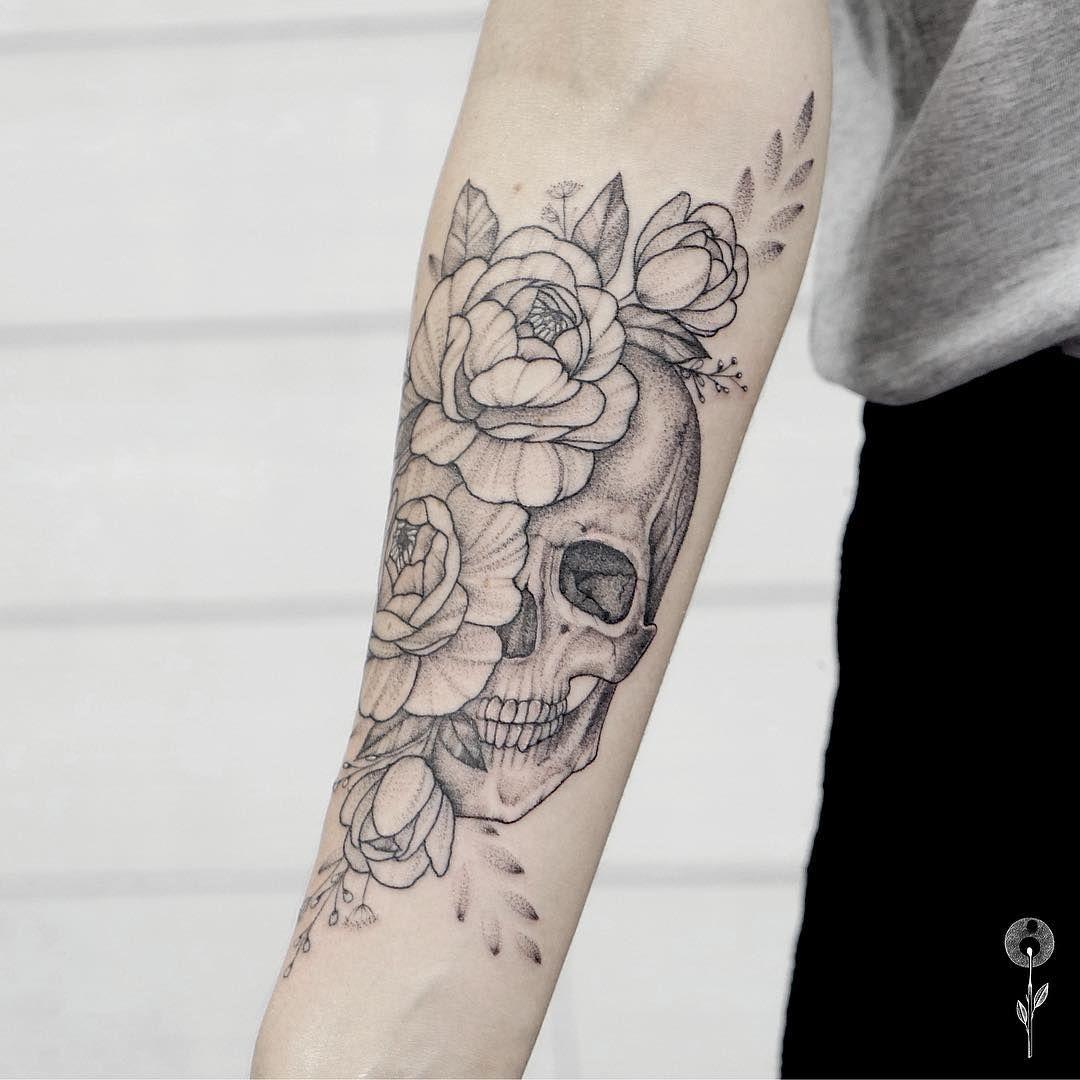 "Pin By Christine Jarmer On Tats I Like: Russian Tattoo Artist On Instagram: ""Ещё одна черепушка"