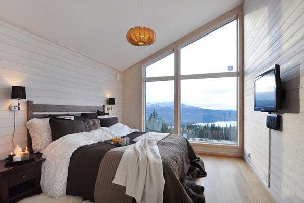 Modern tetőtéri hálószoba