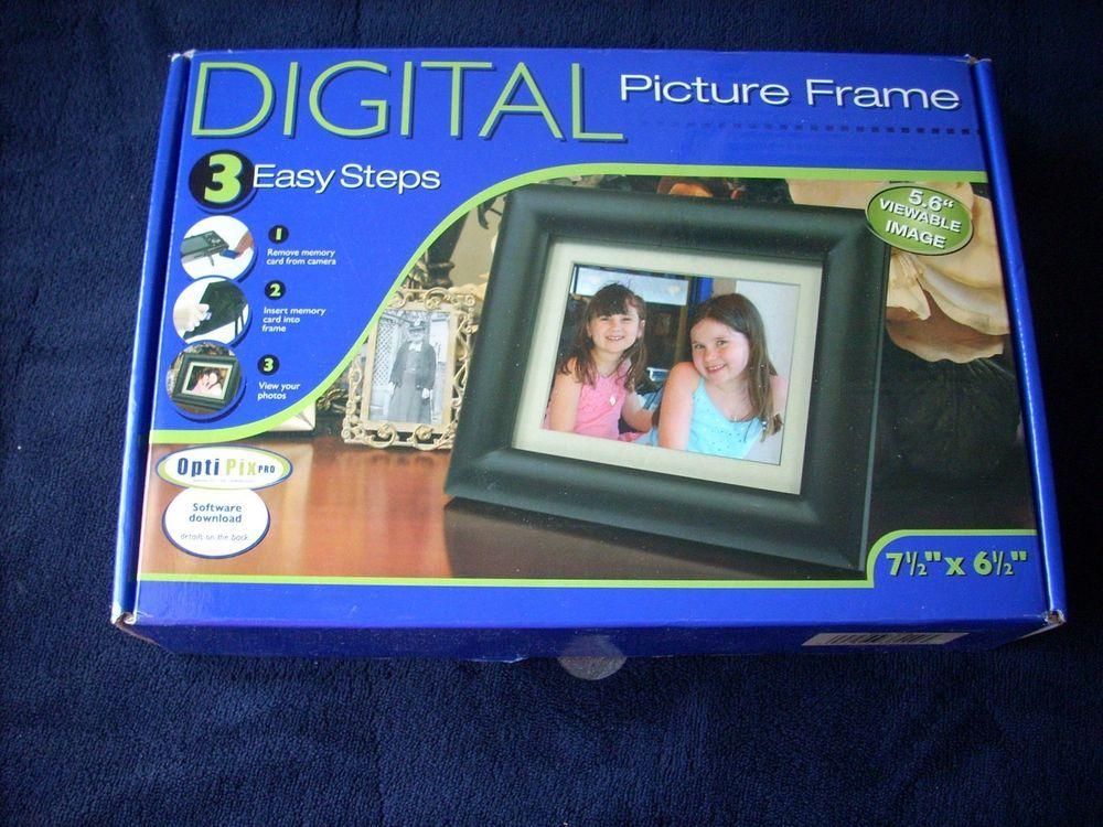 New OptiPix Smartparts Digital Picture Frame 7 1/2\