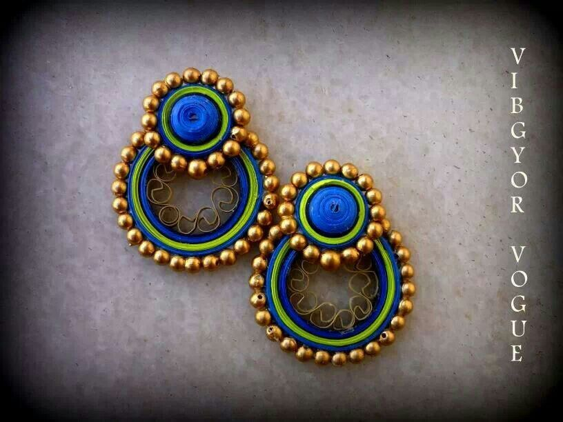 how to make quilling earrings jhumkas