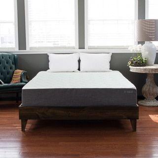 Eluxurysupply North American Pine Platform Mid Century Style Bed Cal King Grey Size