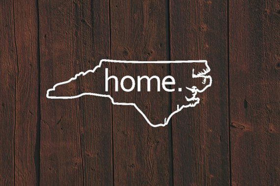 1b1571c748e75 North Carolina Home Decal - North Carolina State Decal - State Home ...