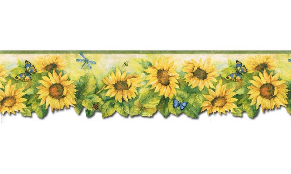 Floral Borders Sunflowers Wallpaper Border BG71361DC