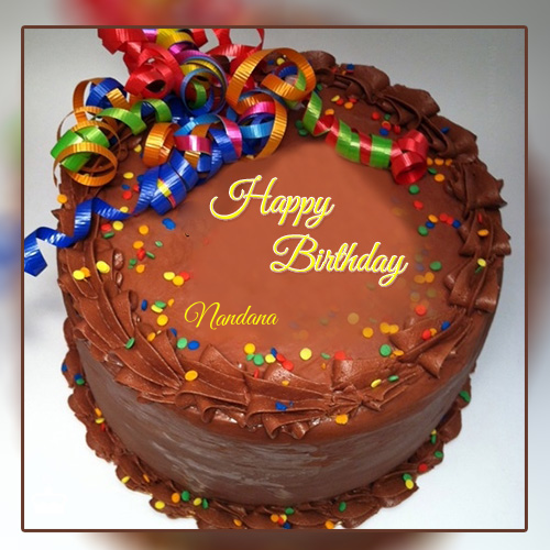 Chocolate Birthday Cake With Name Edit in 2020 | Happy ...