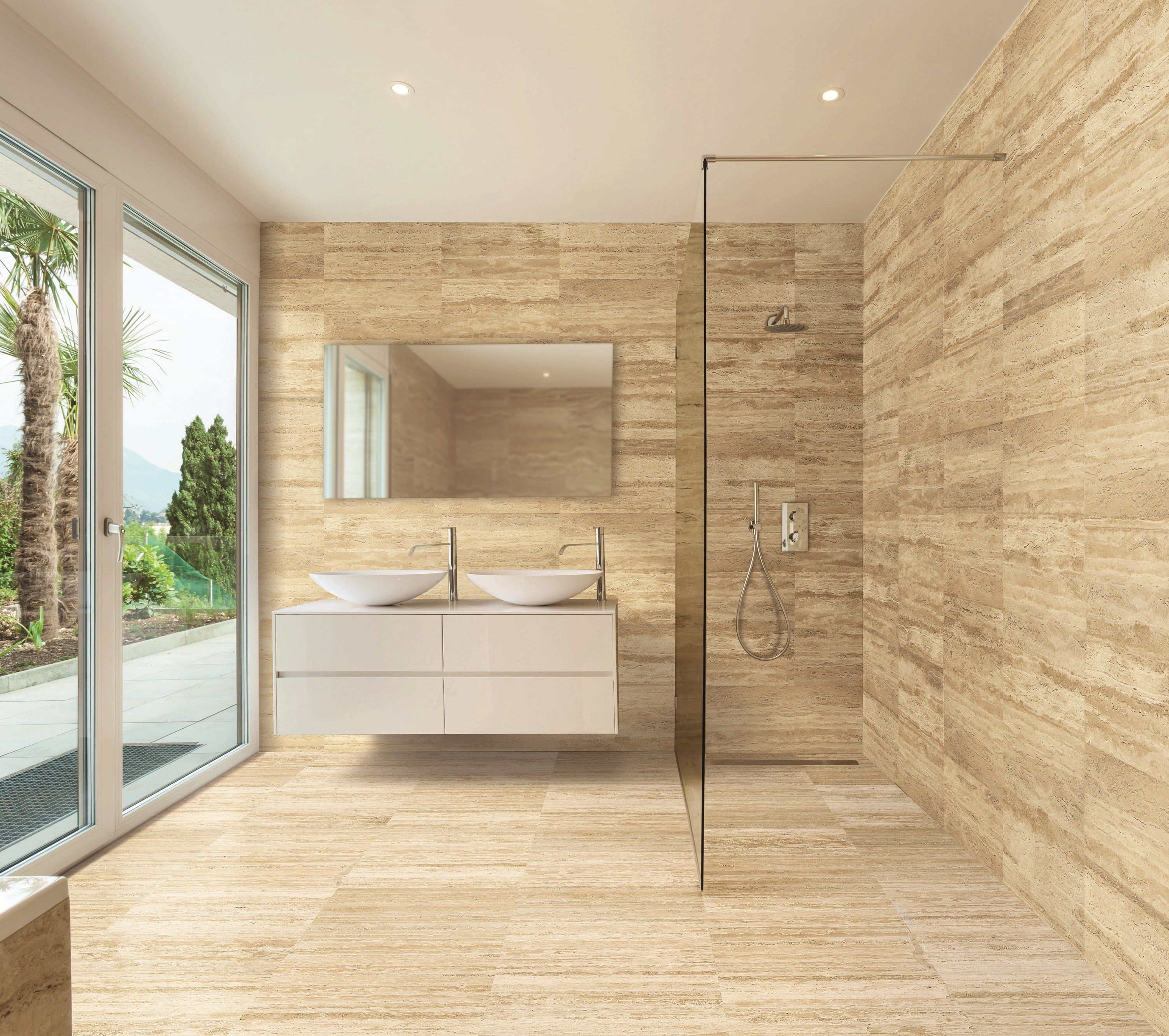 Natural stone finish TRAVERTINO VALLANCA Marble Collection by