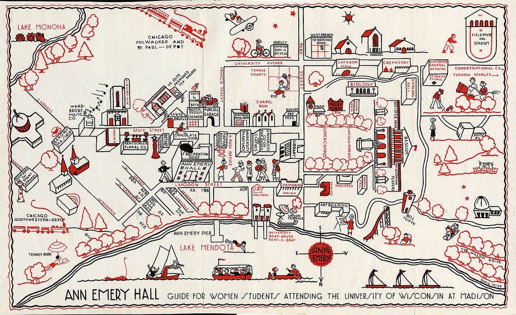University Of Wisconsin Campus Map 1927 Maps Campus Map