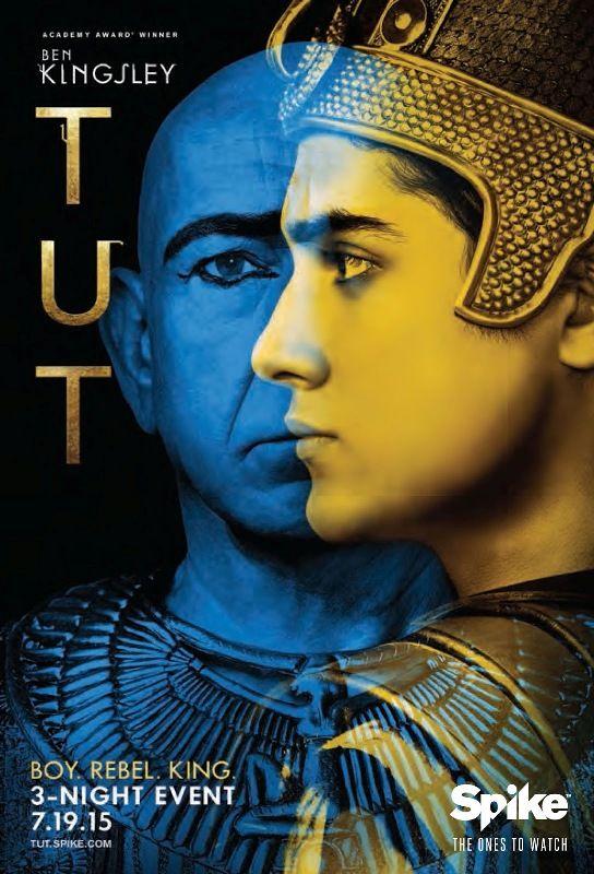 TUT - 2015 - Estrelada por Ben kinsley, a série narra a vida Tutancámon (Avan Jogia), considerado o Faraó mais jovem a governar o antigo Egito, entre 1332 e 1323 A.C.  Tut assume o trono, após o assassinato de seu pai, forçando a casar-se com sua irmã, na intenção de  manter a dinastia e ainda governar um Egito caótico, que está nas mãos daqueles que planejam tomar o seu trono.
