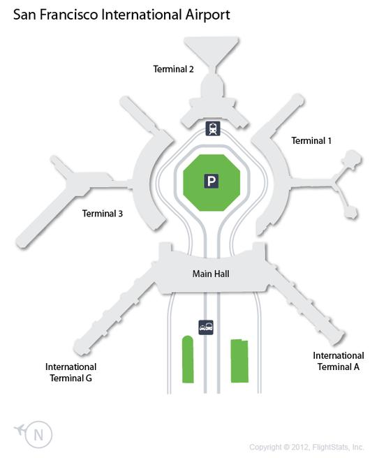 SFO) San Francisco International Airport Terminal Map ...