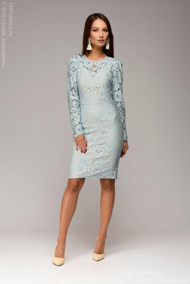 платье футляр кружевное фото