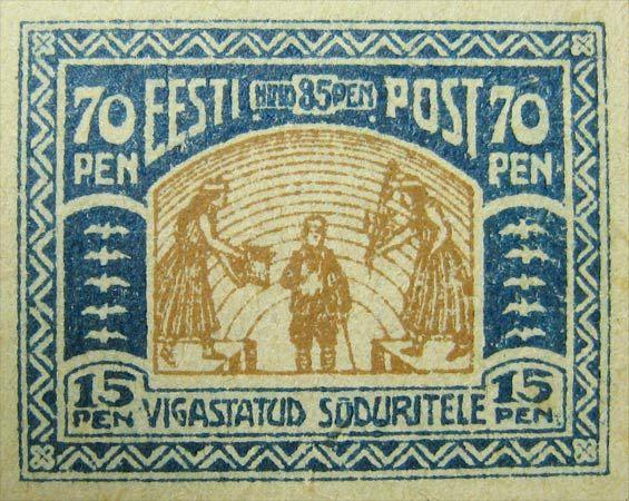 Estonia 1920. Charity Semi-postal. 70p+15p